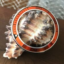 "Coin Edge Bezel+Orange ""Planet Ocean"" Aluminum Insert for Seiko SKX007~US Seller"