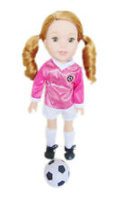 White and Pink Soccer Outfit For Wellie Wisher Dolls