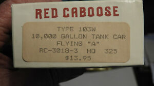 "Red Caboose Type 103W 10k Tank Car Flying ""A"""