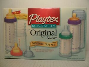 Playtex Drop-Ins Nurser Newborn Gift Set NaturaLatch Nipple Soft Bottle Liners