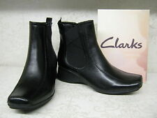 Clarks Wedge Ankle 100% Leather Upper Shoes for Women