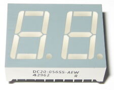 "Dual Digit Bright Red 2.5V DC 7 Segment LED Display - Separate Cathodes - 0.57"""