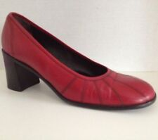 Bally Shoes Womens Size 7.5 Red Pumps Heels US 7 1/2 Mirielle UK 5.5 5 1/2