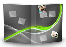 PhotoPocket Gray Customize Photograph Stretch Fabric Book Sox Cover Jumbo Size