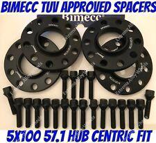2 X 5mm BIMECC Negro hub espaciadores centrados en se ajusta Audi 5X100 57.1