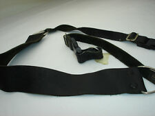LEATHER CAMERA NECK STRAP by HERVIA with lug rings, Quick release, Vintage #2540