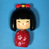 Cute Kawaii Kokeshi Doll Body Moving Fridge Magnet from Kyoto Japan