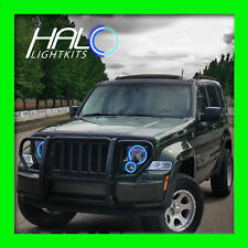 2008-2013 ORACLE LIGHTING Jeep Liberty Blue Plasma Headlight Halo Ring Kit