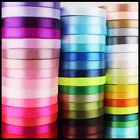 5m Quality Reels of Satin Ribbon Roll Long Lengths & Width 6,10,15, 25 & 38mm