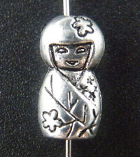 40pcs Tibetan Silver 2sides Japanese dolls Spacers 16x8x6mm 14516