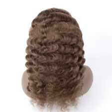 """Deep Wave 14"""" #4 100% Human Hair Hand Tied Gluless Full Lace Wig Hard Lace"""