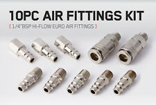 "10 Air Fittings 1/4"" BSP EURO Hi-Flow High flow quick release male female thread"