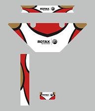 El Dr. Racing Kart Estilo Micro Max Rotax Radiador Kit De Etiquetas-Karting
