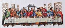 """NEW Finished completed Cross stitch""""Last supper""""home decor gifts"""