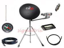 """RV Portable Satellite Dish Network HD 1000.2  Tailgate,100' Cable 46"""" Tripod KIT"""
