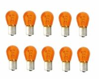 10x BAU15S 12V 21W Blinkerbirne Lampe Gelb Orange keine LED