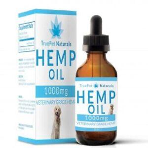 TruePet Naturals Veterinary Grade Hemp Oil for Dogs * 1oz (10mL) * NEW