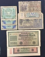 Lot of 8 Assorted Germany Military Payment Certificates & Bank Notes