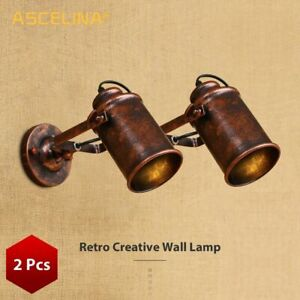 Retro Loft Country Wall Sconce Bar Cafe Walls Lamp Vintage Industrial Wall Light