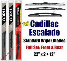 Wiper Blades 3pk Front Rear Standard fit 2009-2014 Cadillac Escalade 30221x2/12E