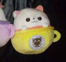 "Latte Kitten Coffee MIMI Moteneko Yellow Cup Plush 12-13"" (Free S/H in USA)"