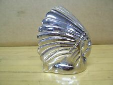 Indian Chief Motorcycle Fender Car Hood Ornament Mascot Chrome Brass