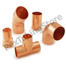 Copper Sweat Plumbing Fittings: Elbows, Tees, Couplings, Adapters, NSF LEAD-FREE