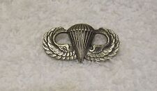 Original WWII Military Paratrooper Parachute Airborne Wings Sterling Pin back