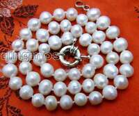 """SALE 6-7MM White Natural Freshwater PEARL 17"""" NECKLACE -5613-5613 Free shipping"""