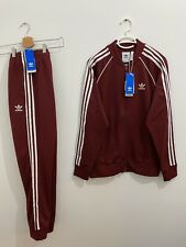 Adidas Originals Superstar Tracksuit Collegiate Burgundy White Size XL