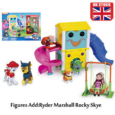 PAW PATROL Park Playground Marshall Ryder Skye Rocky 4PCS Figures Kids Gift Toys