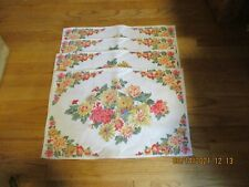 New listing Lot of 4 April Cornell Cottage Floral Table Mats, Preowned/Never Used