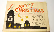 More details for ww2 italy prisoner of war christmas card hand made 1945/1946, unposted.
