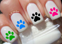 Paw Print Nail Art Stickers Transfers Decals Set of 66