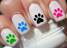 Paw Print Nail Art Stickers Transfers Decals Set of 74