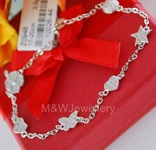 BRACELET SOLID 925 STERLING SILVER RHODIUM PLATED with ZIRCONIA clover-heart..