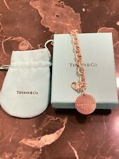 Tiffany Round Tag Charm Bracelet 6in.