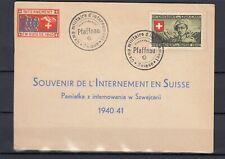 Schweiz Souvenir-Karte mit Soldatenmarke v. 1940 Pfaffnau gestempelt (Int. 1280)