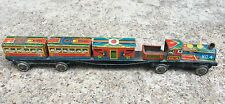 1950's VINTAGE RARE MILITARY SOLDIERS & WAR CANNON PRINTED TIN TOY TRAIN, JAPAN