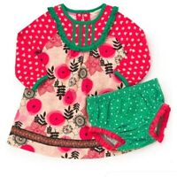 Matilda Jane Under The Tree Dress Diaper Cover 12-18  Month NWT In Bag Christmas