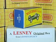Matchbox Lesney 19c Aston Martin Racing Car Type D EMPTY ORIGINAL BOX ONLY (b)