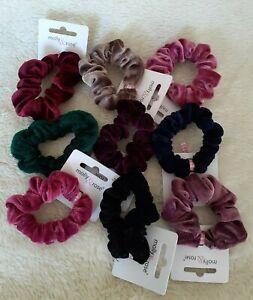 Small 7cm Velvet Scrunchies - Choice of 10 Colours