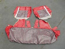 FORD DODGE GM GMC CHEVY INTERNATIONAL NOS red 2 door seat covers 1950's 1960's