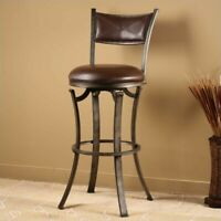 Hillsdale Cameron 30 Quot Ladder Back Swivel Bar Stool In