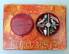 "Jeff Brown artwork found objects assemblage collage unique ""Reliquary No. 6"""