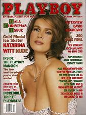 PLAYBOY DECEMBER 1998-C - DAHM TRIPLETS - KATARINA WITT NUDE!