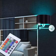 RGB LED LUZ DE PARED COMEDOR Tela Reflector Negro Oro Lámpara Big Luz