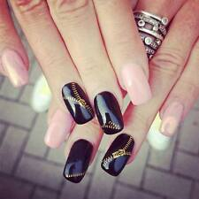 Adesivi per unghie CERNIERE MANICURE oro argento nail art 3D gold ZIPS stickers