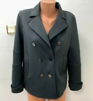 MARC CAIN Gr.N5 DE 42 kurzer Mantel Jacke Schwarz Silbere Logo