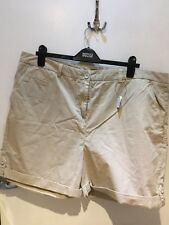 NEW M&S Collection Beige Cotton Shorts. Size 22UK.